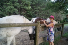 Laura and Rescued Horses-Wishing Well Sanctuary, Bradford, Ont.