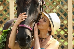 Laura and Rescued Horse-DogTails, King City, Ont.